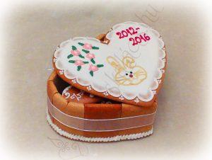 Zsúr méretű szív torta doboz ovis ballagásra