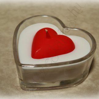 Szív alakú üvegmécses