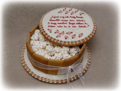 Mézeskalács doboz torta, vintage