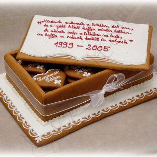 Mézeskalács torta doboz osztálytalálkozóra, ballagásra