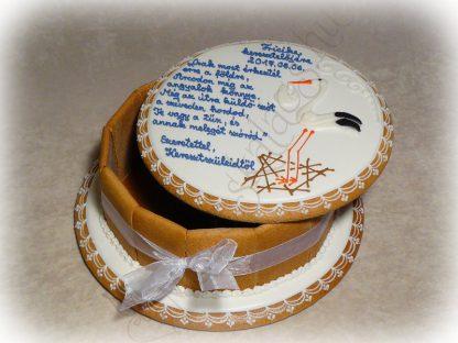 Keresztelői mézeskalács ajándék doboz