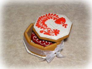 Esküvői mézeskalács doboz