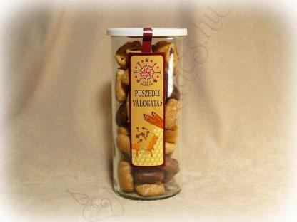 Vegyes mézes puszedli csomag frissentartó üvegben