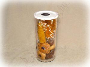 Üveges mézeskalács-gyertya szett