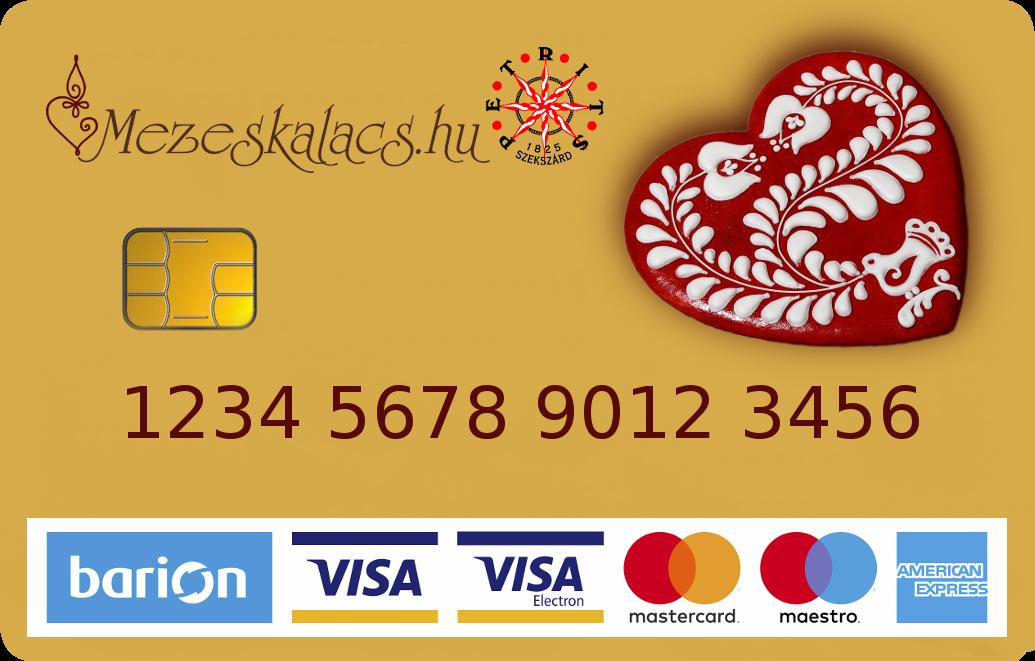 Bankkártyával mézeskalács, gyertya
