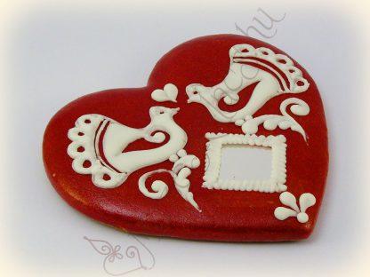 Valentin napi mézeskalács szív